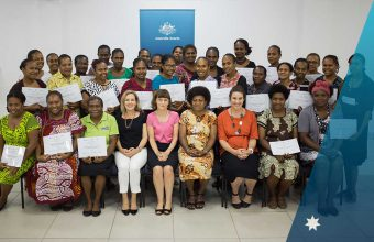 A skill-building workshop for aspiring women leaders in Vanuatu