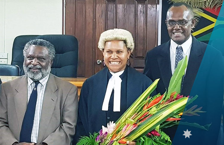 Viran Molisa, Vanuatu's first ever Ni-Vanuatu female judge of the Supreme Court